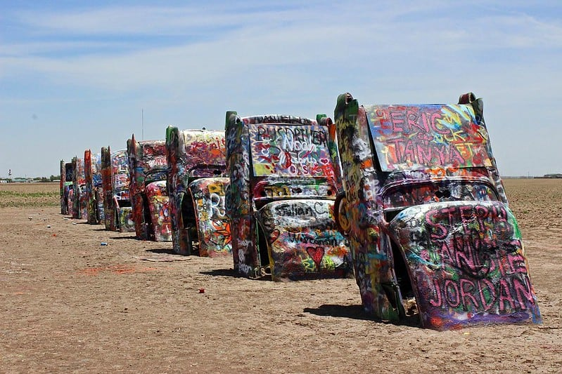 Cadillac Ranch is one of the best things to do in Amarillo Texas