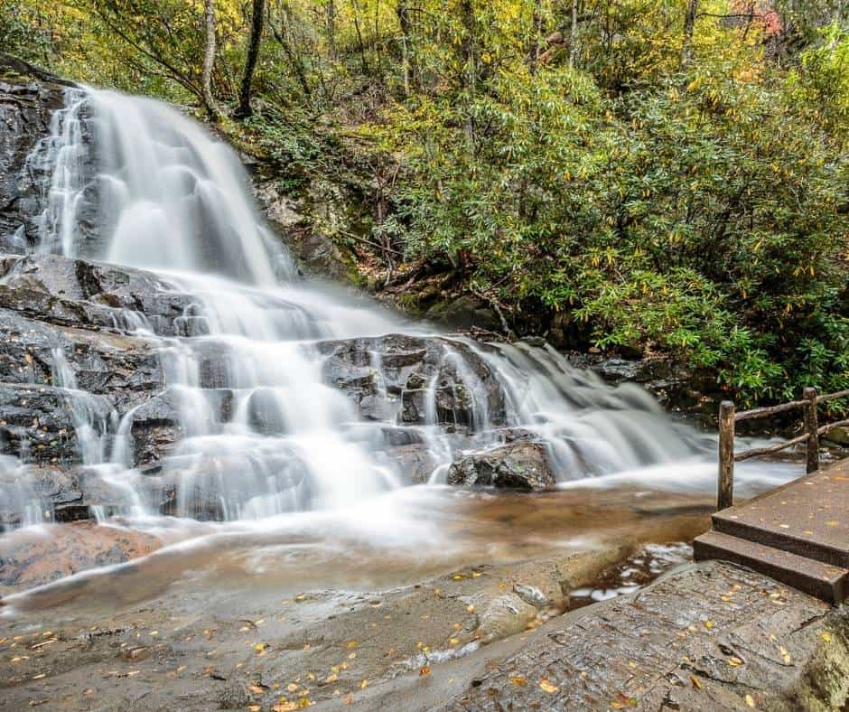 Laurel Falls in Great Smoky Mountain National Park