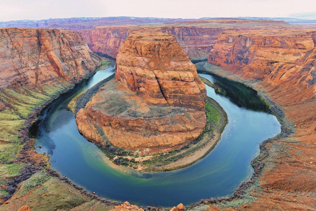 Horseshoe Bend is a great stop on an Arizona road trip