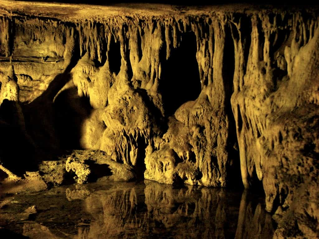 things to do in Chattanooga with kids include climbing through Raccoon Mountain Caverns