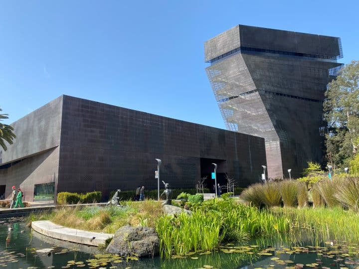 Things to do in Golden Gate Park include visiting the De Young Museum