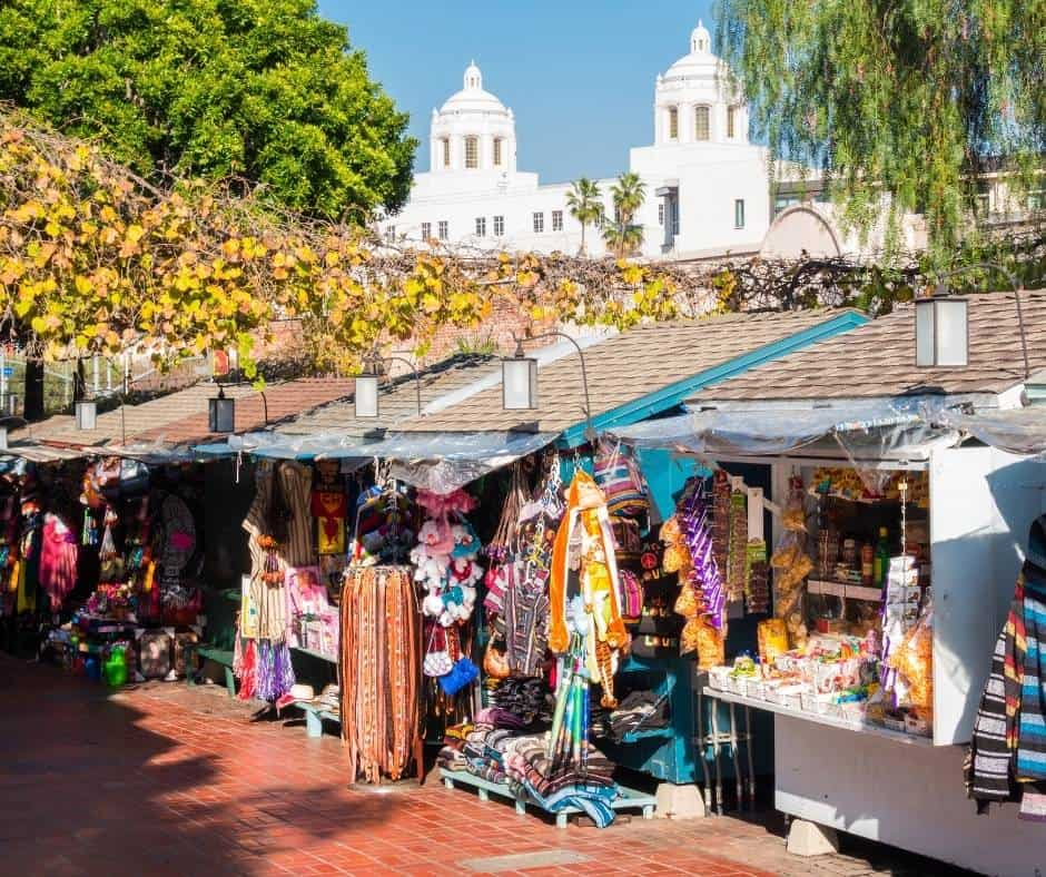 things to do in LA with kids include visiting Olvera Street