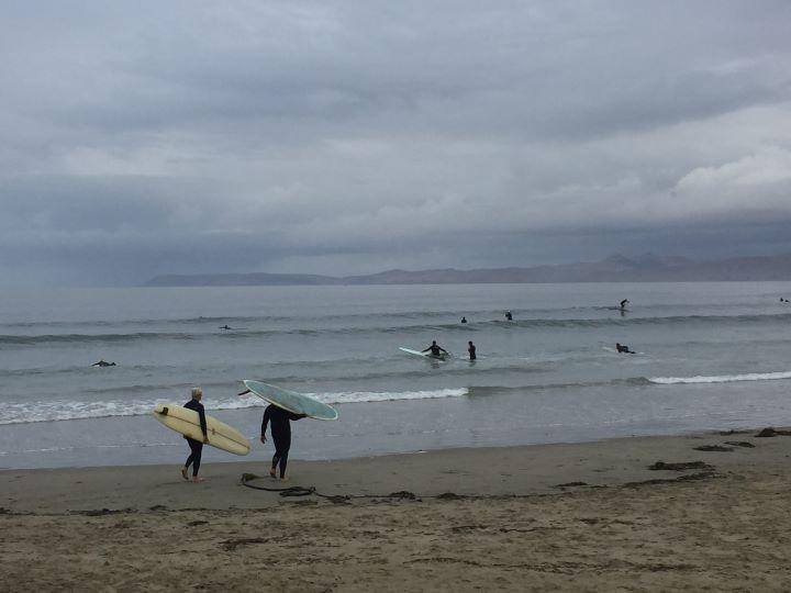 Surfing in Morro Bay