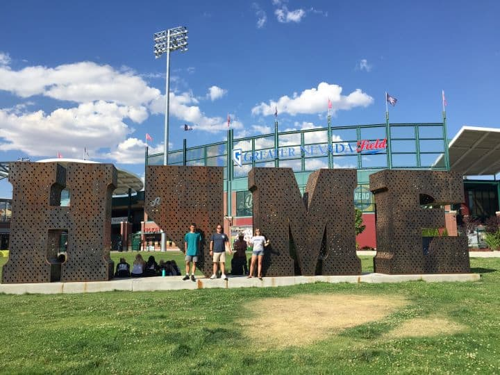 Things to do in Reno with kids include catching a game at Greater Nevada Field