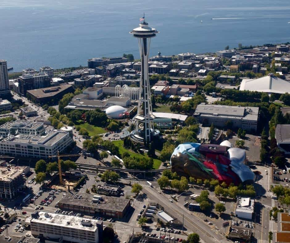 Things to do in Seattle with kids include visiting Seattle Center