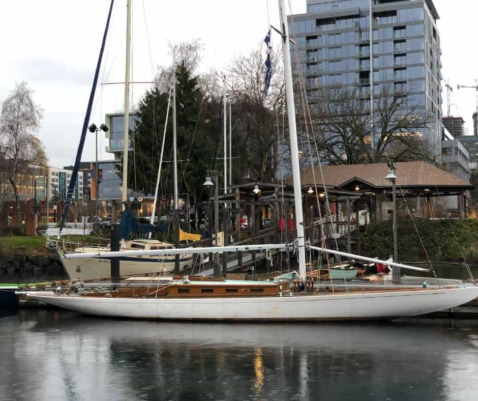 boat at South Lake Union in Seattle