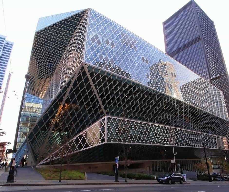things to do in Seattle with kids include visiting Seattle Public Library