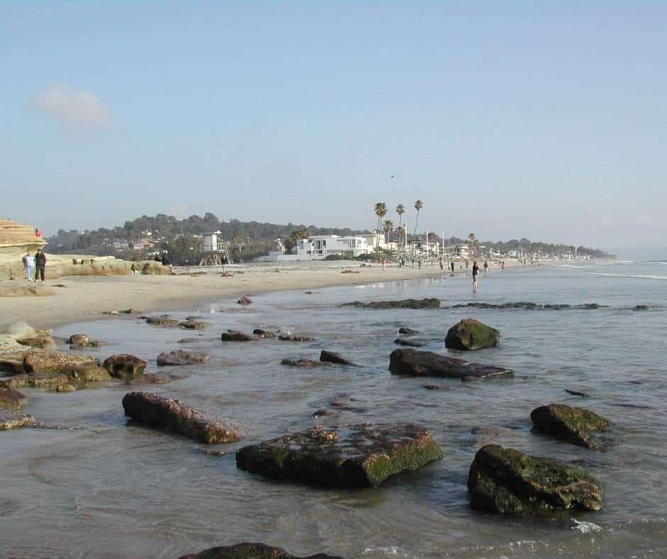 Del Mari si one of the best beaches near San Diego