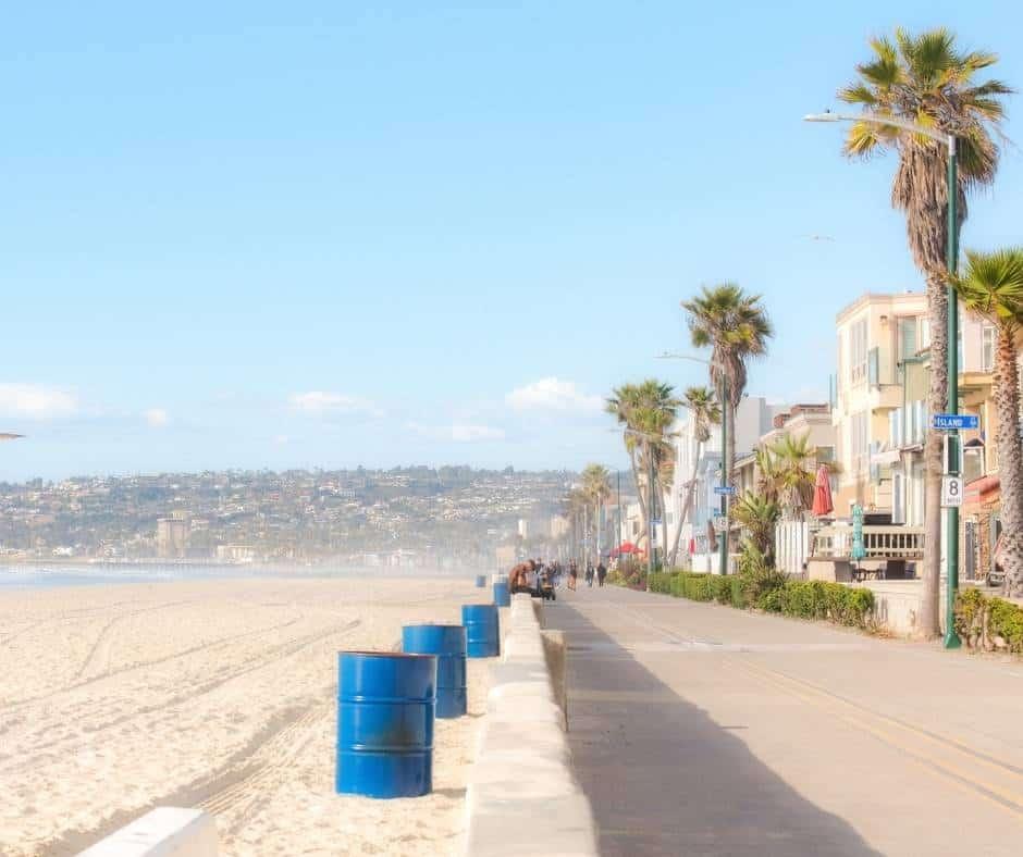 Mission Beach Near San Diego