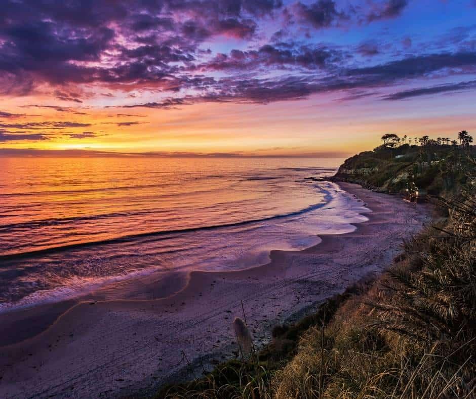 Swamis Beach near San Diego