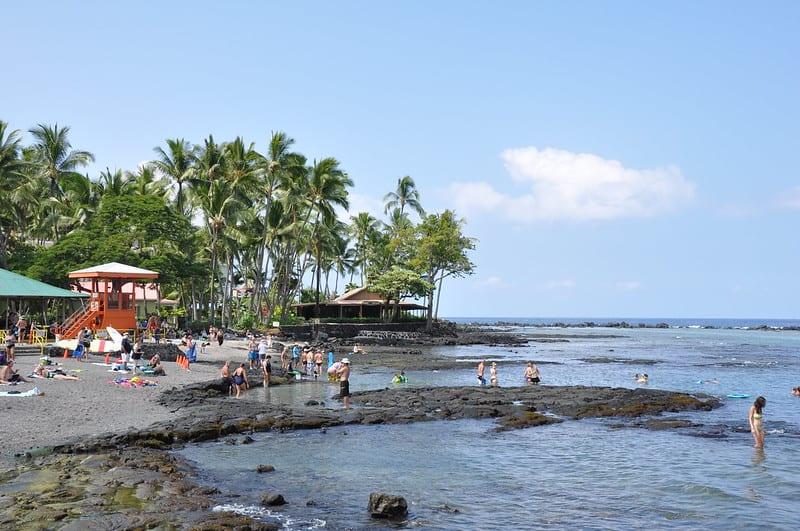 Kahalu'u Beach Park on the Big Island Hawaii