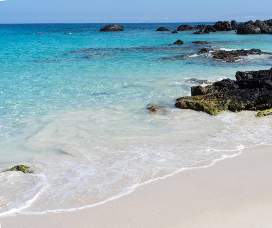 Kua Bay is home to one of the best Big Island beaches