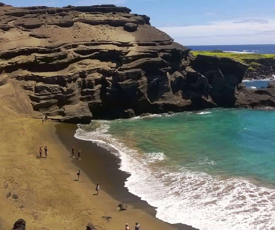 Papakolea Green Sand Beach on the Big Island