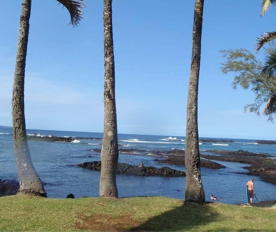 Richardson Beach park is one of the best Big Island beaches near Hilo