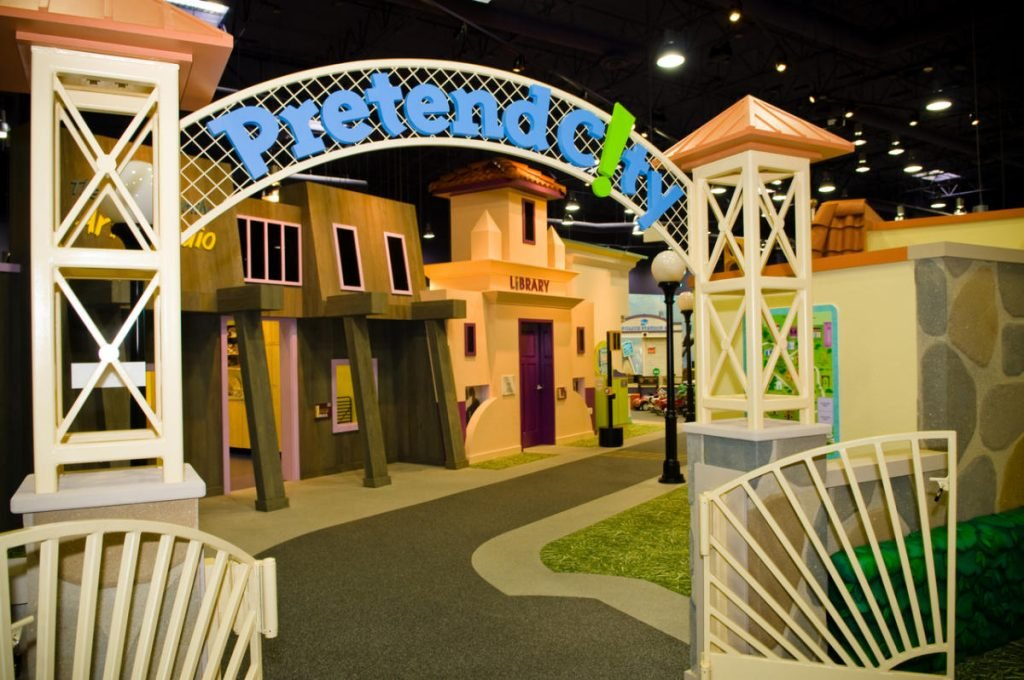 Pretend City in Irvine is a great places to visit in OC with kids
