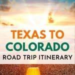 Texas to Colorado Road Trip