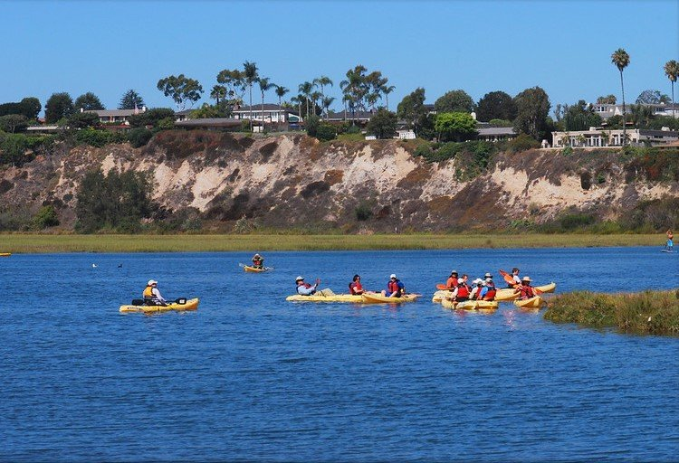 Kayaking the Back Bay is one of the fun things to do in Orange  County with kids