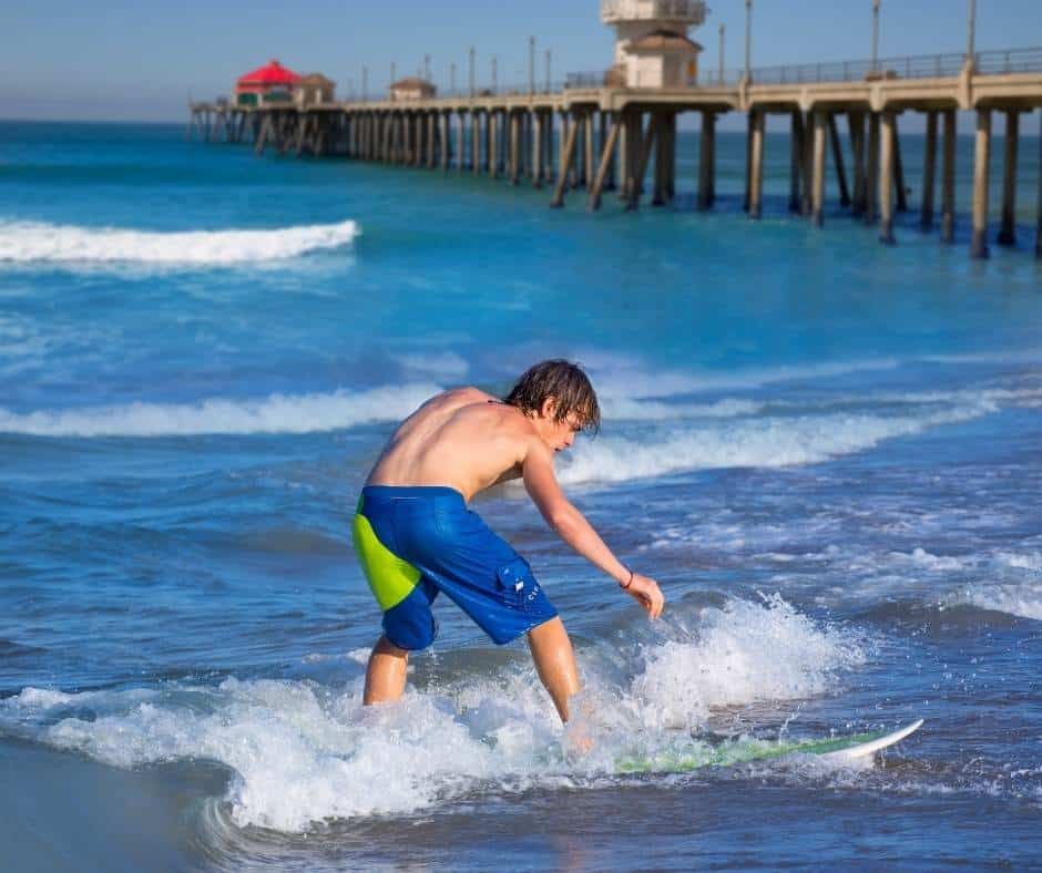fun things to do in Orange County include learning how to surf