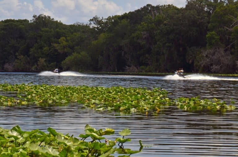 Jet skis in the Ocala National Forest
