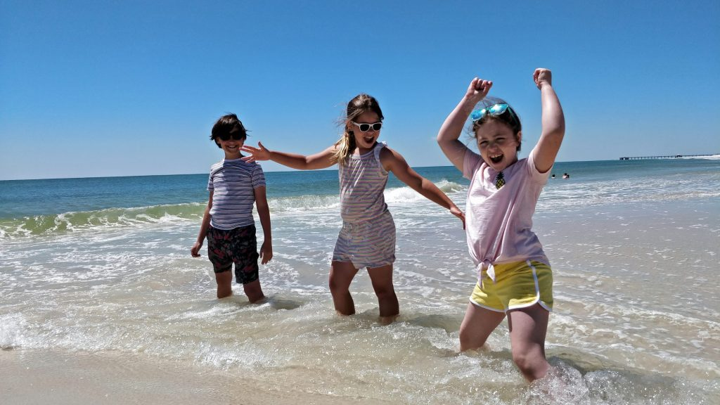 Things to do in Gulf Shores with kids include heading to the beach