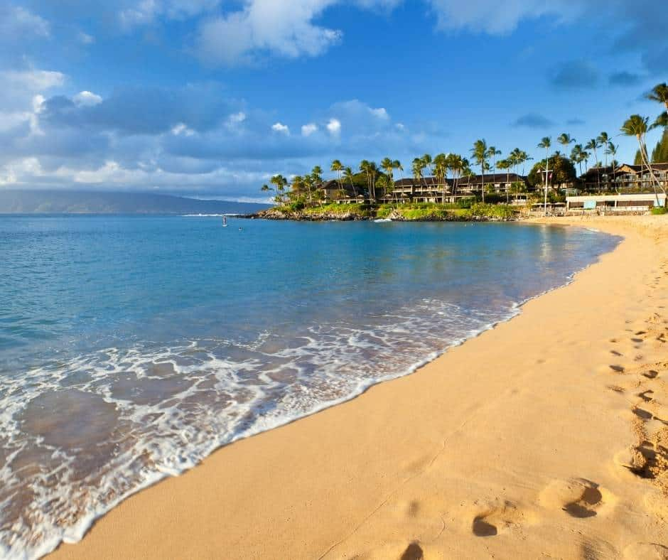 Napili Bay is a great beach for families in Maui
