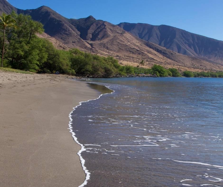 Olowalu Beach on Maui east of Lahaina