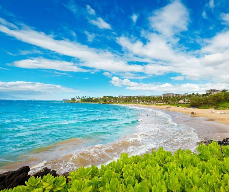 One of the best beaches in Maui is Wailea Beach