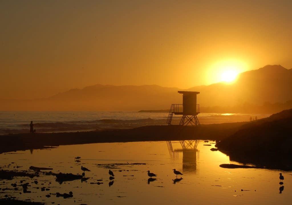 Carpenteria State Beach is a great beach near Santa Barbara