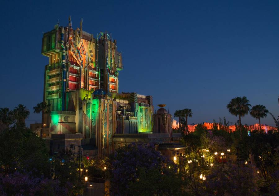 Guardians of the Galaxy Mission Breakout ride at Disney California Adventure