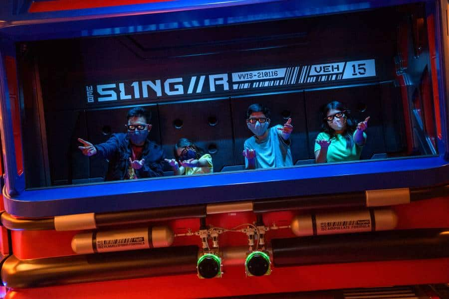 One of the new rides at Avengers Campus Disneyland is Web Slingers