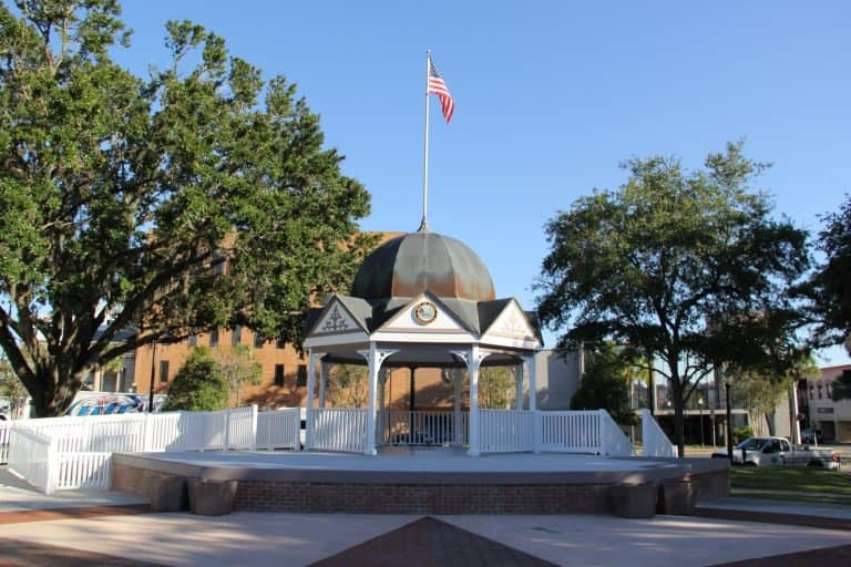 Town gazebo in downtown Ocala