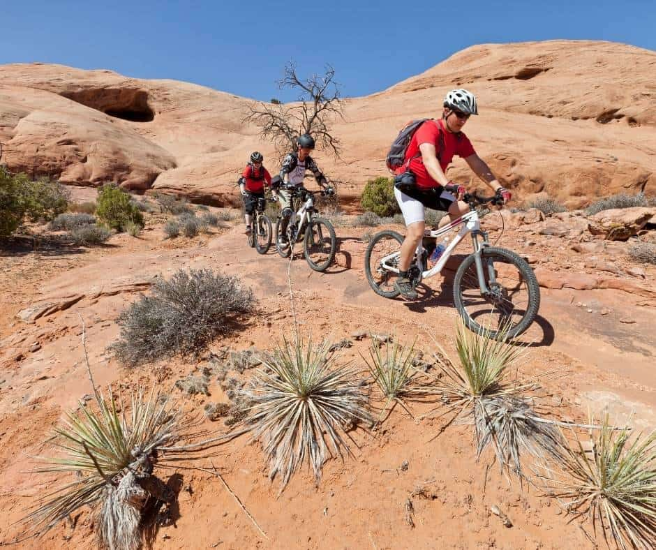 Mountain Biking is one of the most popular things to do in Moab with kids