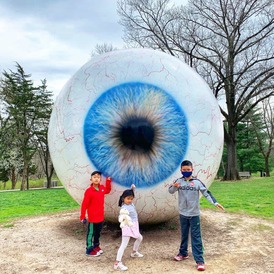 things to do in St. Louis with kids include visiting the Laumeier Sculpture Park