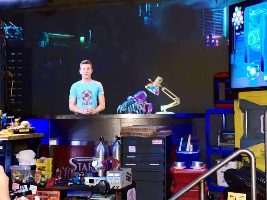 Peter Parker hologram on Web Slingers