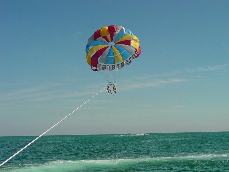 Parasailing is one of the fun things to do in Gulf Shores with kids