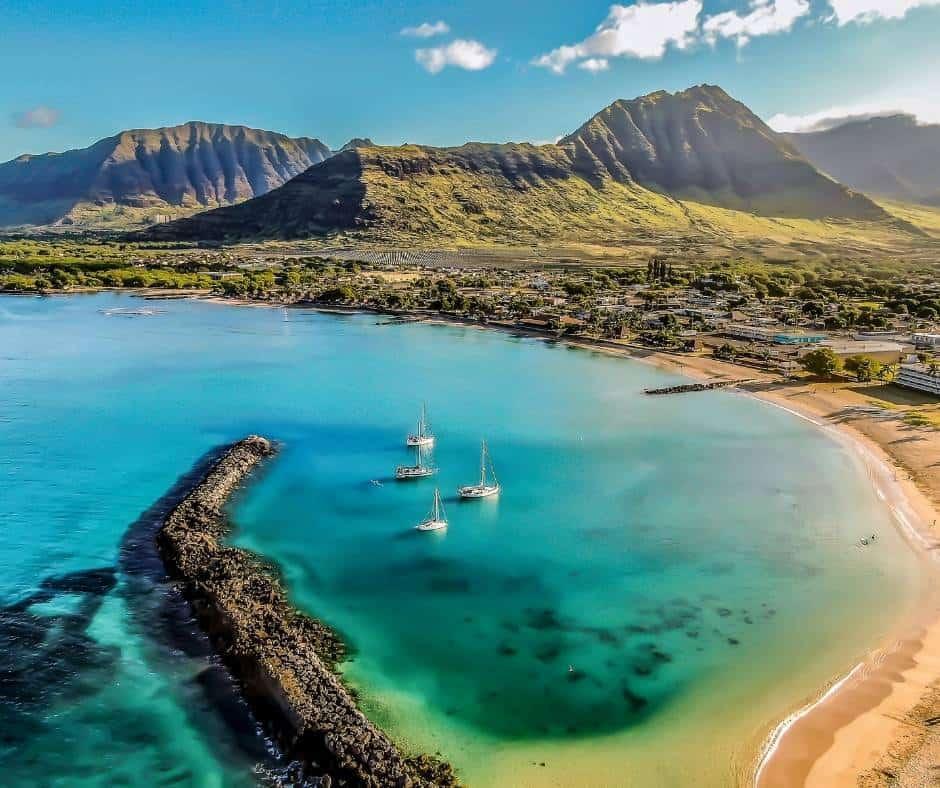 Pokai Bay in Oahu