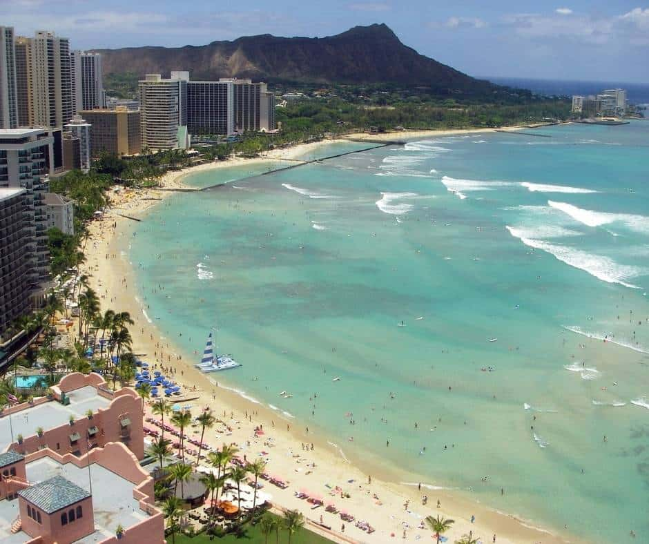 Waikiki is the most famous beach in Hawaii