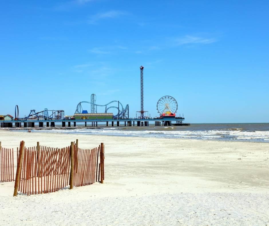Best beach in Texas for Families include Stewart Beach on Galveston Island