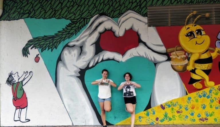 Mural at the Strand in Galveston