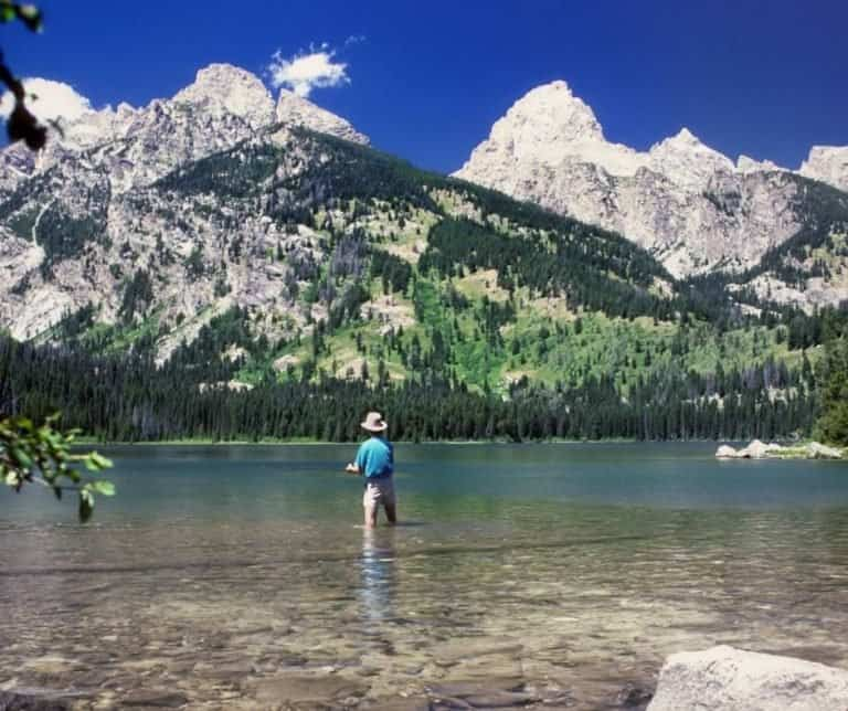 Fishing is a popular activity in Grand Teton National Park
