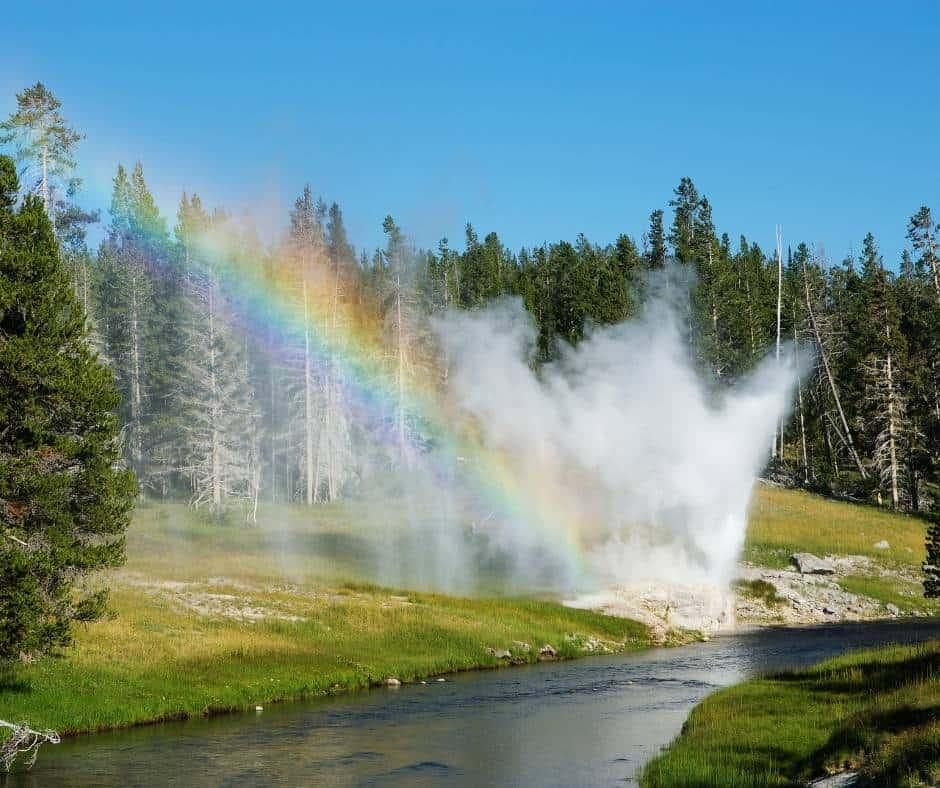 Riverside Geyser Yellowstone