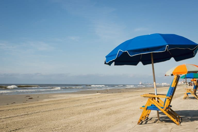 Things to do in Galveston with kids include spending a day at the beach