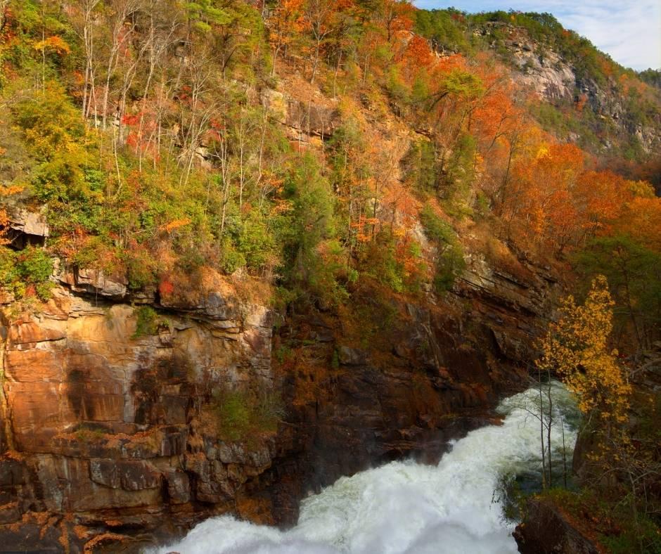 Tallulah Gorge State Park has great Georgia fall colors