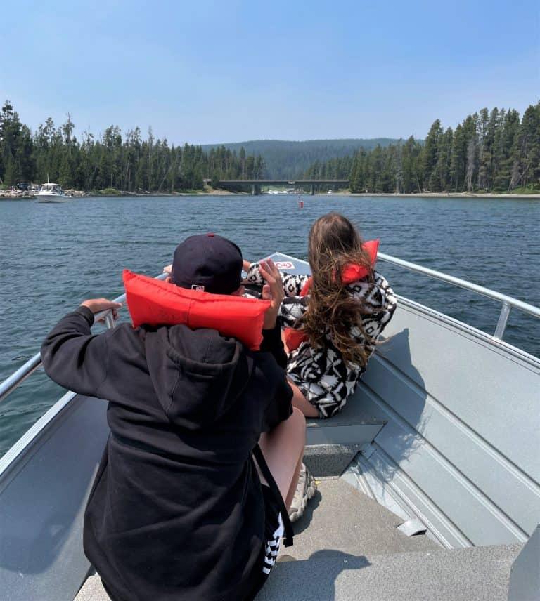 Boating Yellowstone Lake