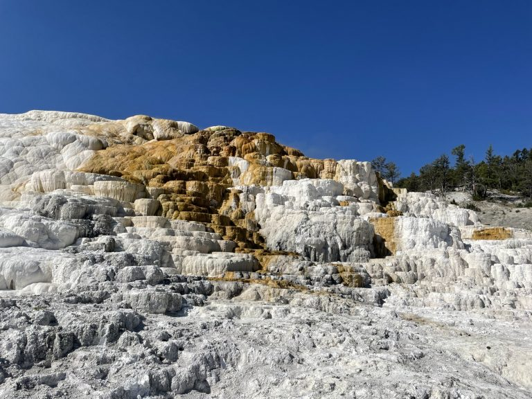 things to do in Yellowstone National Park include visiting Mammoth Hot Springs