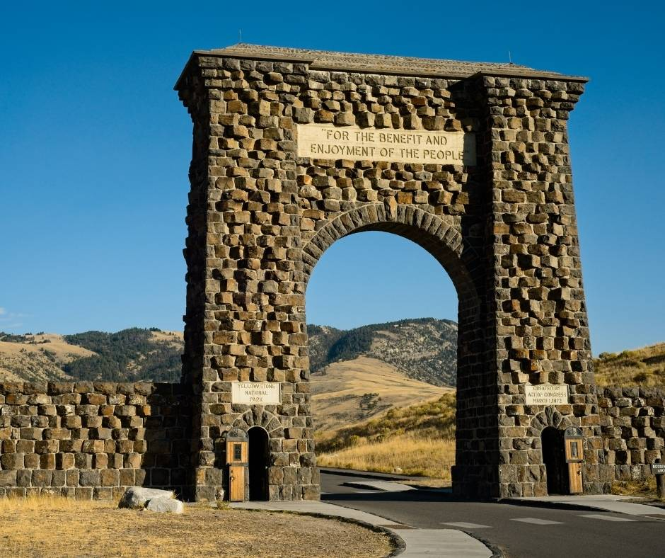 Roosevelt Arch in Yellowstone National Park