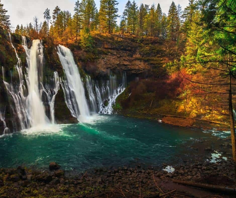 California fall color at Burney Falls