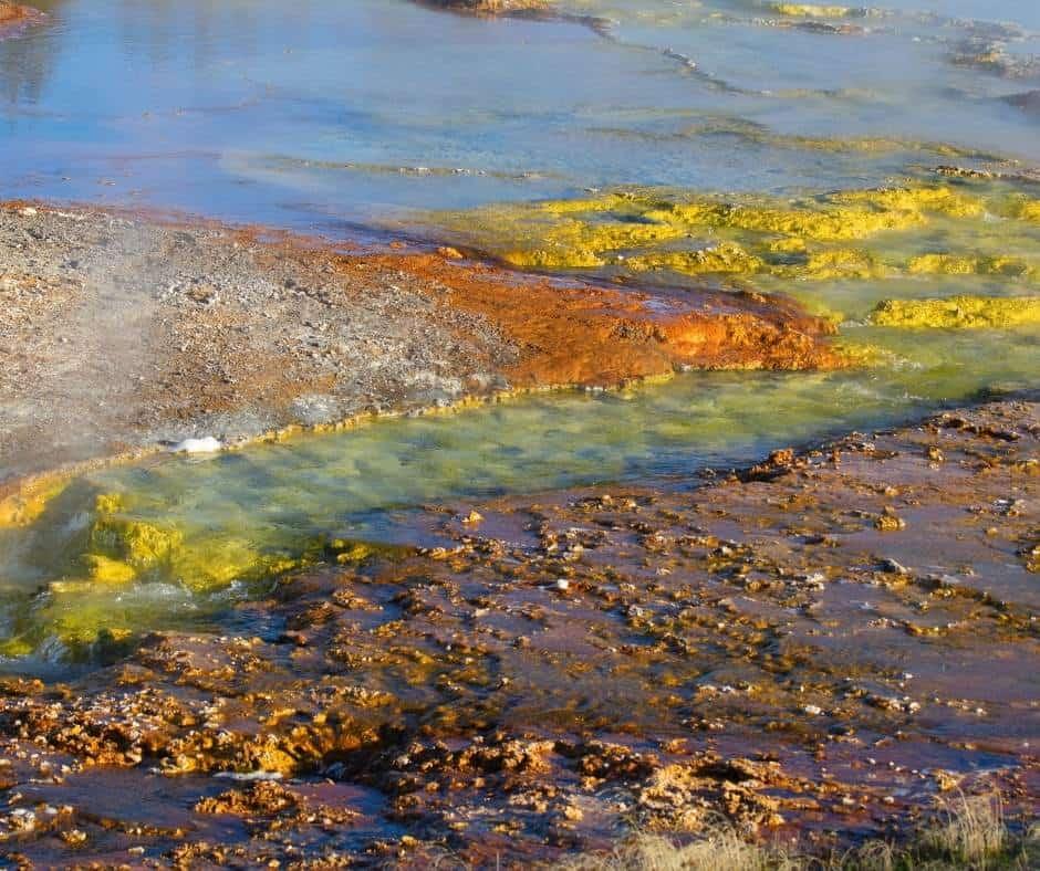 Lowe Geyser Basin in Yellowstone National Park