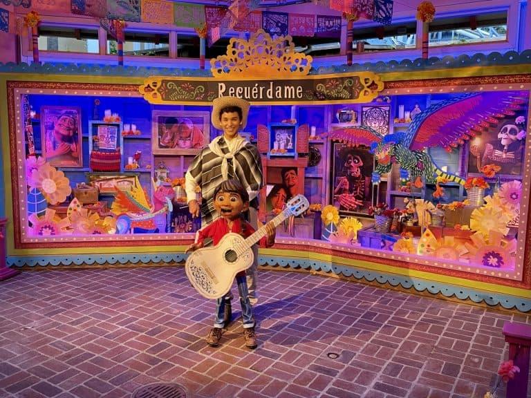 Miguel at Plaza del la Familia in Disneyland California Adventure