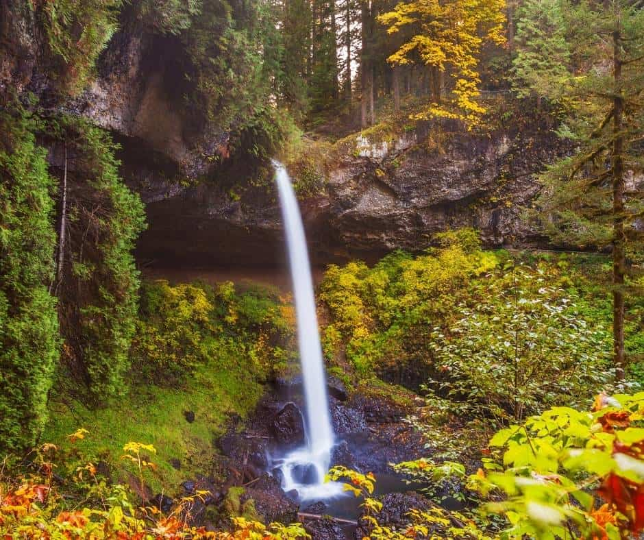 Silver falls State Park in Oregon during the fall